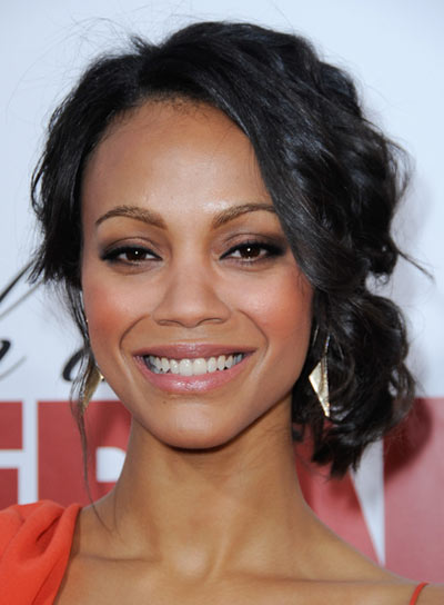 Zoe Saldana's Curly, Romantic Updo