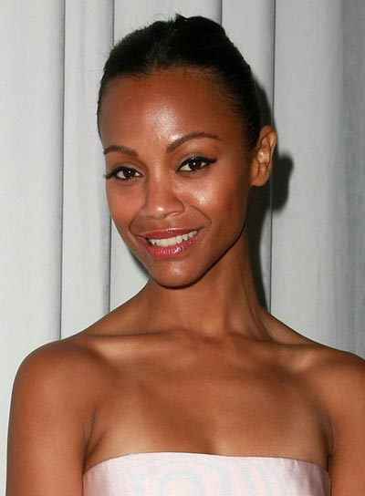 Zoe Saldana's Formal Black Updo